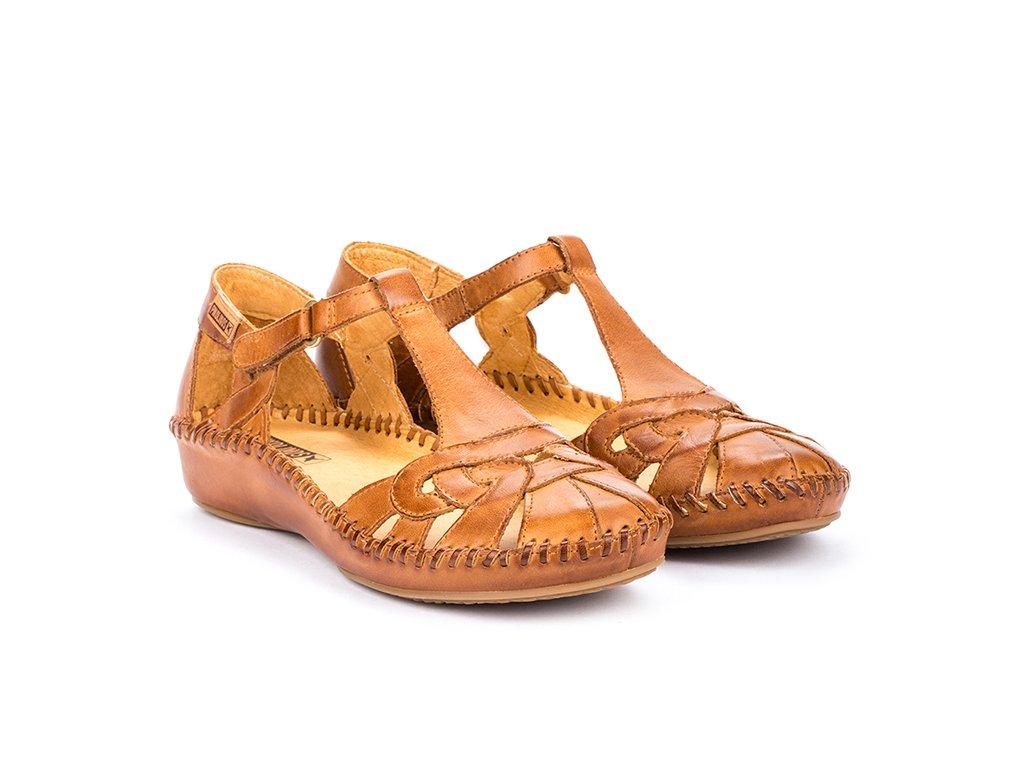 Hnedé sandále Pikolinos P. V 655 0621 PK BRANDY