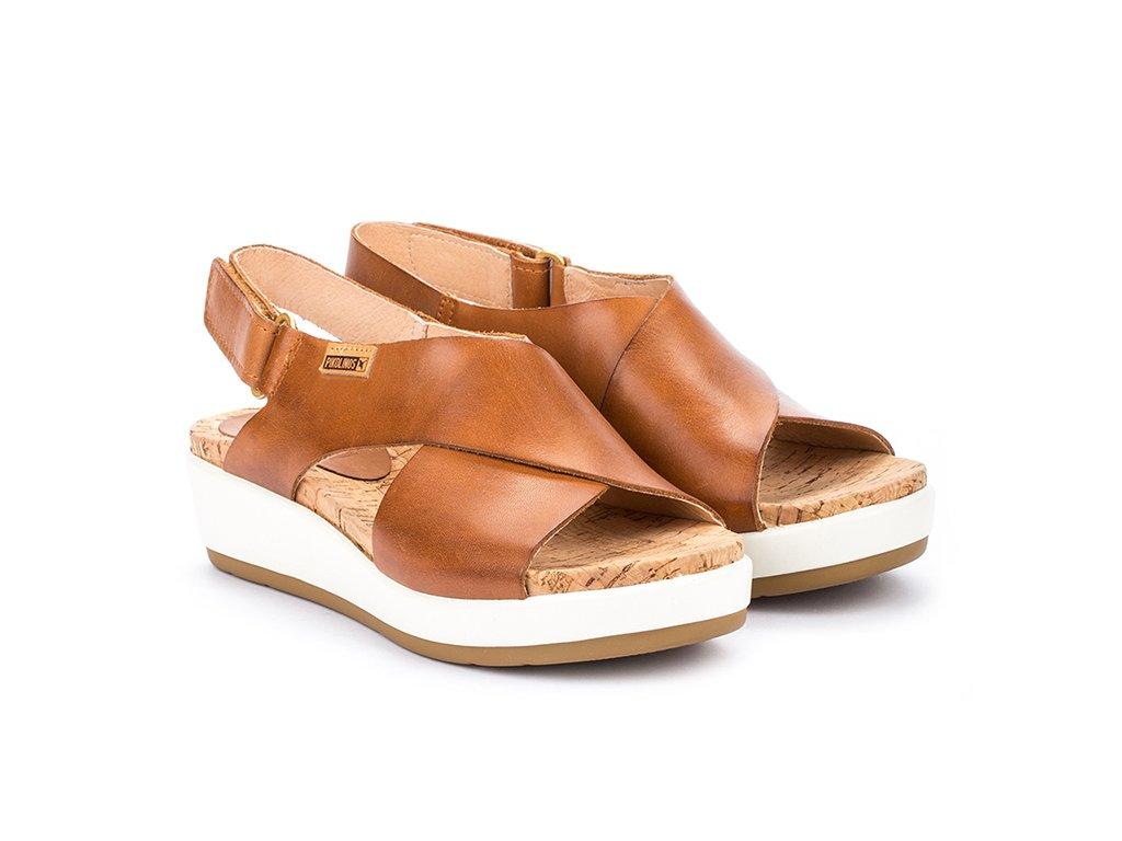 Hnedé sandále Pikolinos MYKO W1G 0757C2 PK BRANDY
