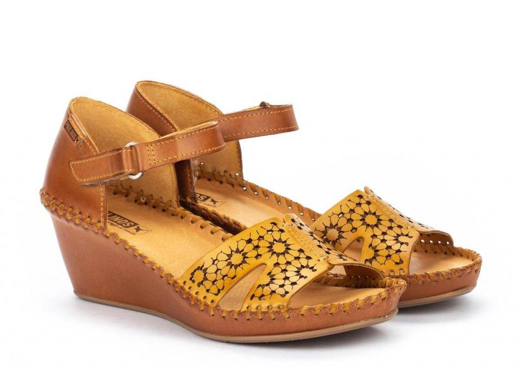 Sandále pikolinos marg 943 1691c1 pk honey big