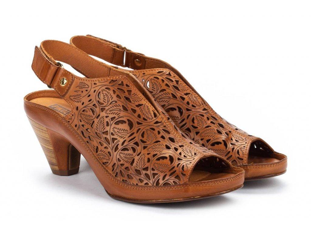 Hnedé sandále pikolinos java w5a 1805 pk brandy big