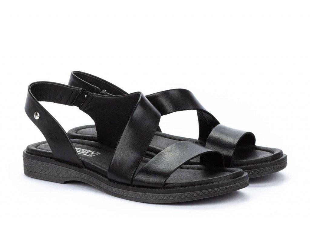 Čierne sandále Pikolinos mora w4e 0834 pk black big
