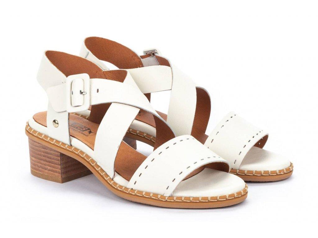Krémové sandále Pikolinos  blan w3h 1892 pk nata big