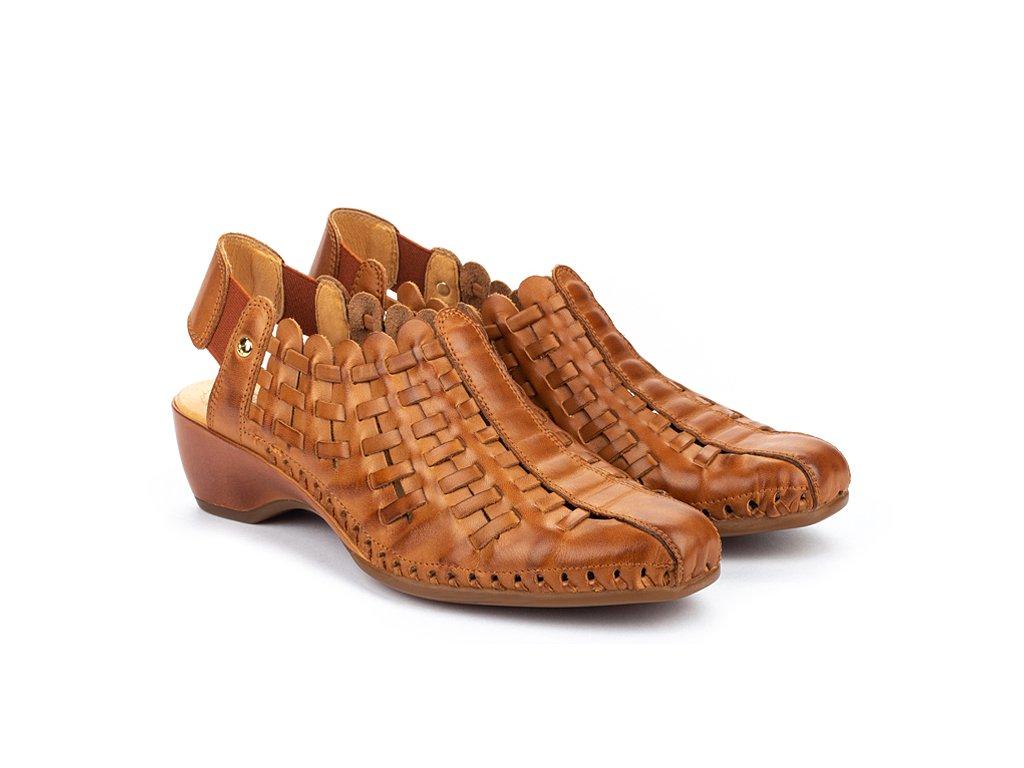 Hnedé sandále Pikolinos ROMA W96 1553 PK BRANDY