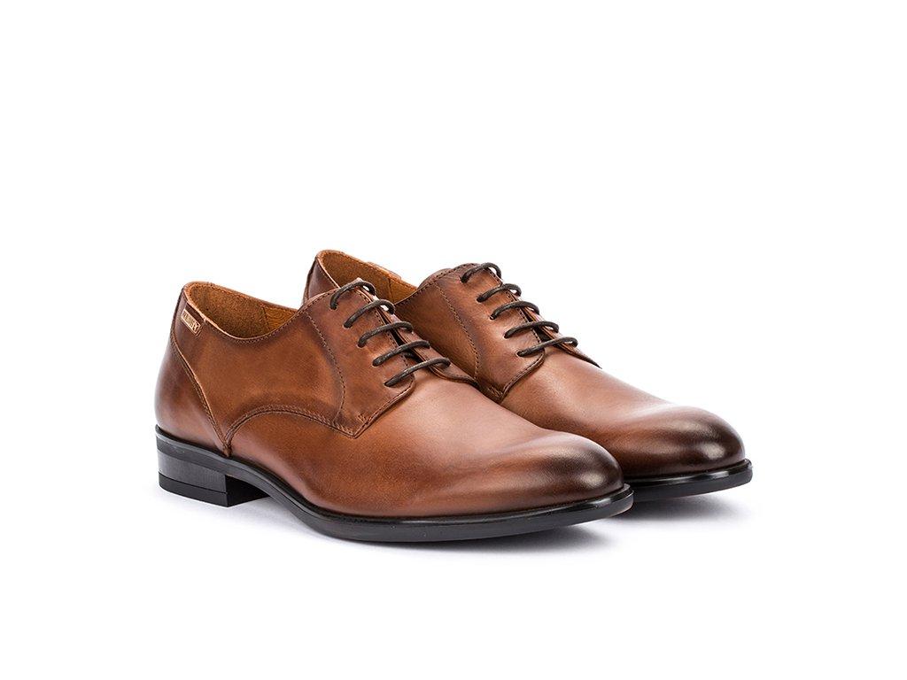 Pánska spoločenská obuv BRIS M7J 4187 PK CUERO