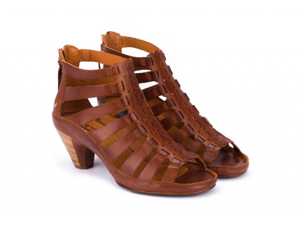 hnedé sandále Pikolinos java w5a 1701 pk cuero big