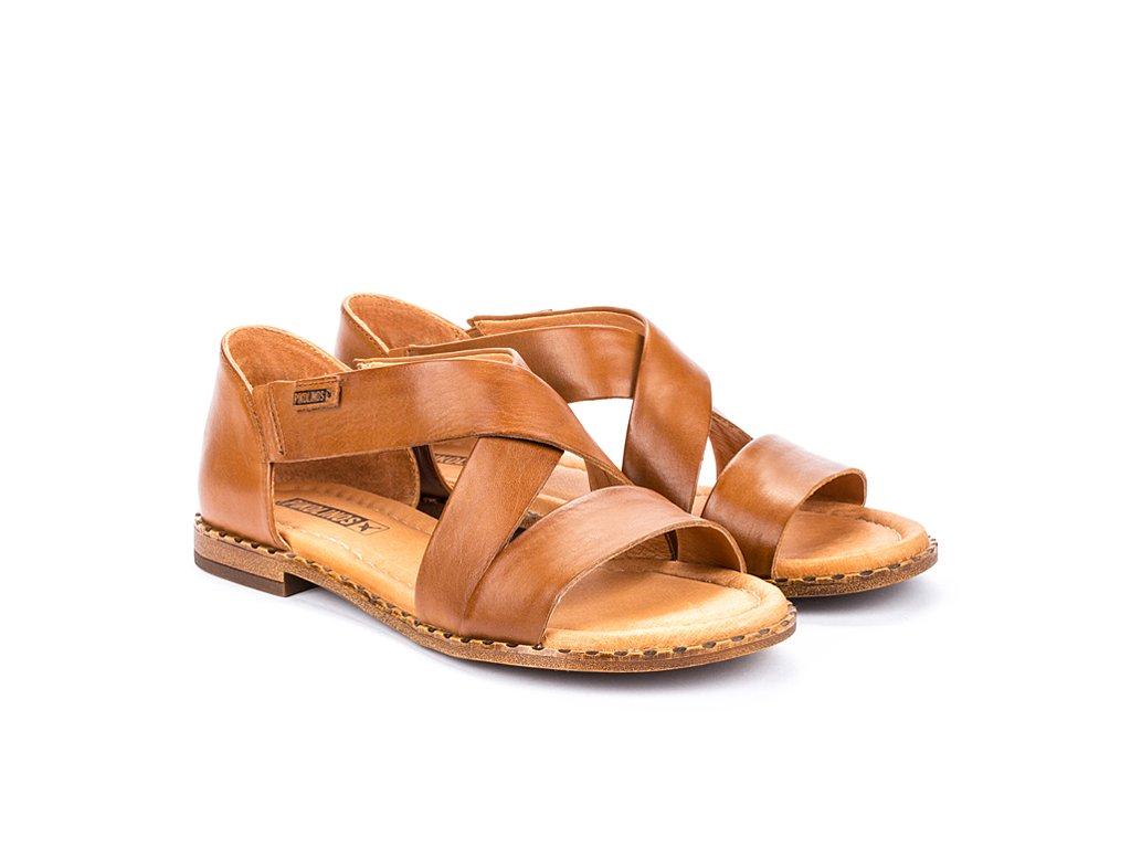 Hnedé sandále Pikolinos ALGA W0X 0552 PK BRANDY