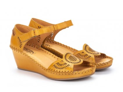 Źlté sandále marg 943 1859 pk honey big