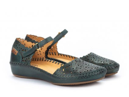 Smaragdové sandále  Pikolinos   P. VALLARTA 655-0906 EMERALD