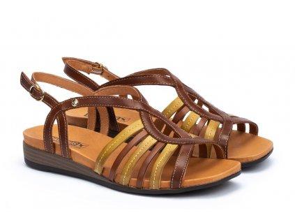 Hnedé sandále Pikolinos ibiz w5n 0572c1 pk cuero big